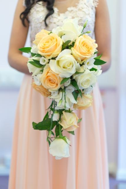 Wedding bouquet for Simran & Jay's civil ceremony in Aldershot