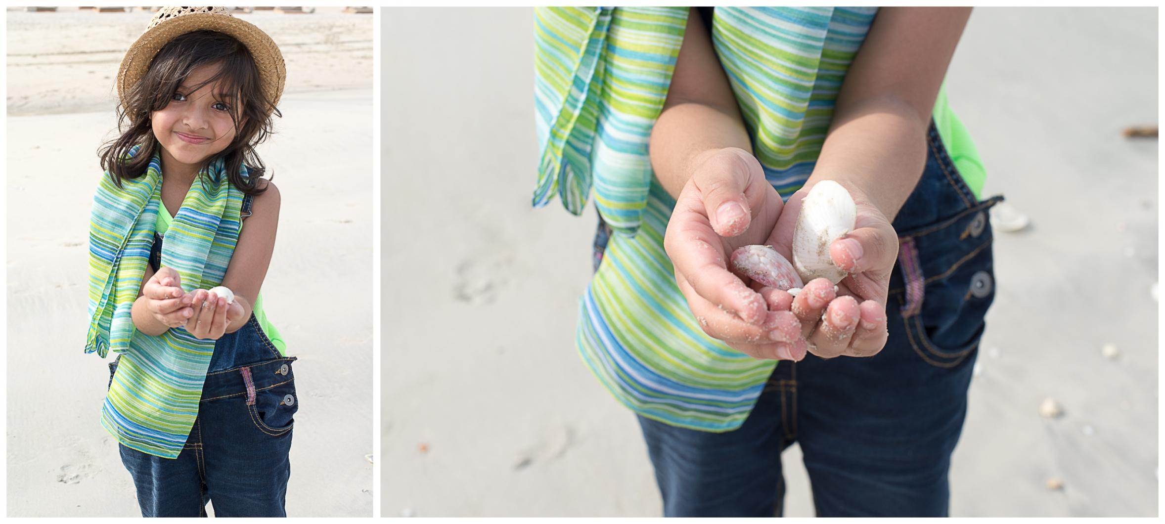 Collecting shells on JBR beach
