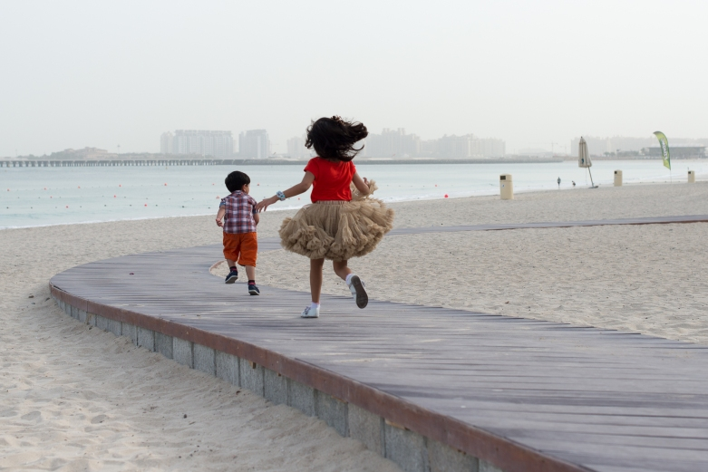 Reisha & Vihaan at at JBR beach