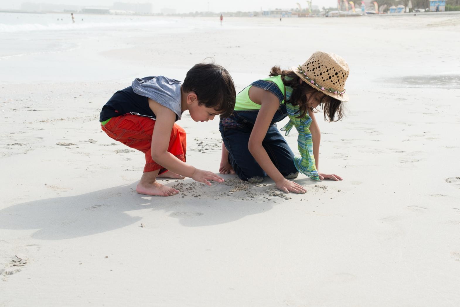 Reisha & Vihaan at at JBR beach