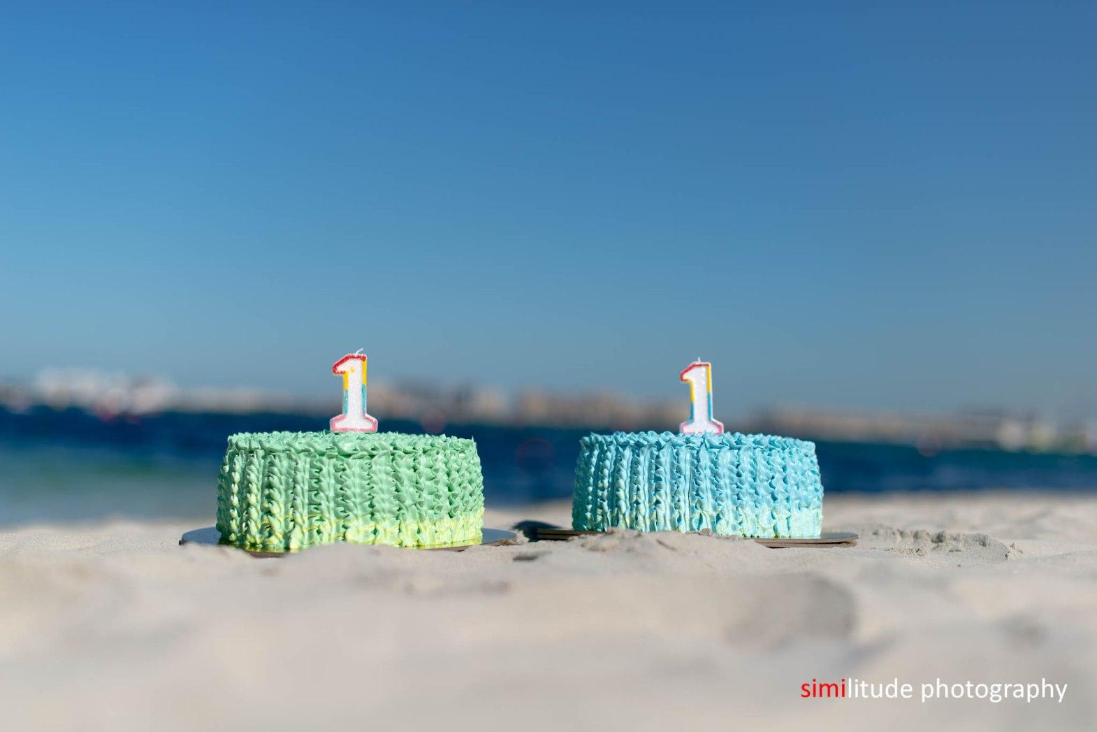 Cake smash on the beach!