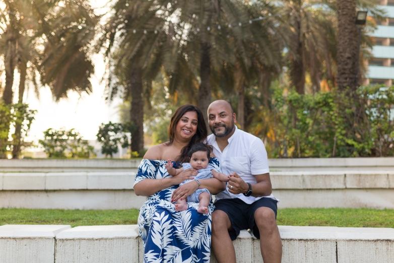 Kanji family photoshoot in Dubai